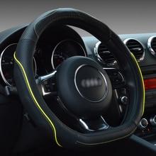 Auto Stuurhoes D Vorm Ring Echt Leer 38Cm Voor Audi Tt Mercedes Benz C Volkswagen Polo Sagitar citroen C4L