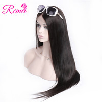 Rcmei Brazilian Straight Human Hair Wigs 180% Density 360 Lace Frontal Wigs Pre Plucked With Baby Hair For Women Full Remy Hair