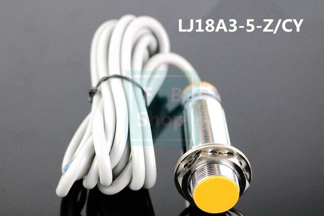 5Pcs  M18 Three Wire DC PNP NO+NC 5mm distance measuring Inductive proximity switch sensor  LJ18A3 5 Z/CY