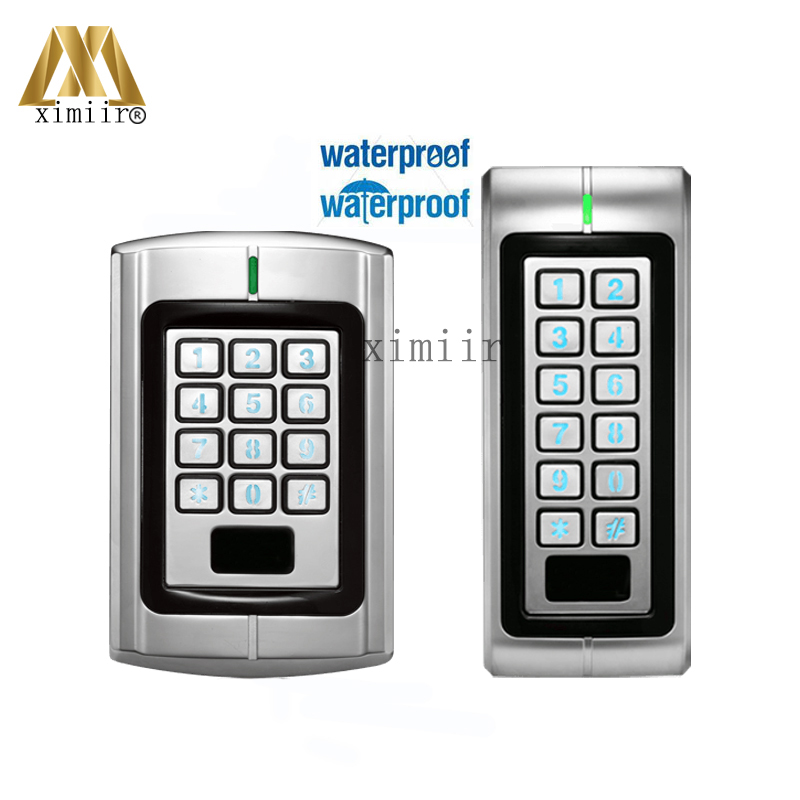 Good Quality DF-V1 Standalone Single-Door Controller With Keypad IP65 Waterproof 125KHz RFID Card Access Control With Metal Case surface waterproof metal key access control card reader standalone 8000 users single door 125khz rfid em card access controller