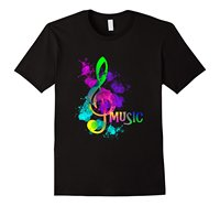2017 Brand T Shirt Homme Tees Short Crew Neck Funky Colorful Music Treble Clef Musical Note