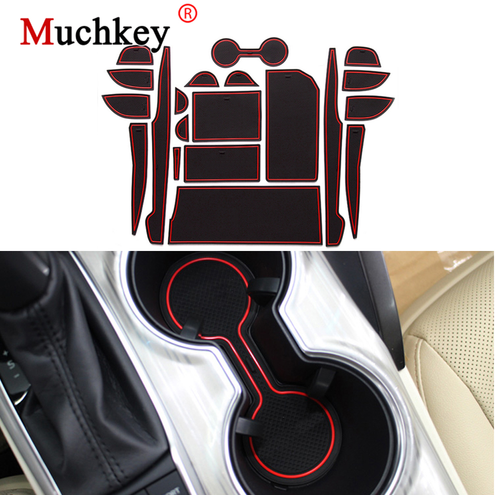 muchkey Car Cushion Non-Slip Gate Slot Pad For 2012 2013 MINI Anti-dust Latex Interior Cup Mats Blue 7PCS//Set