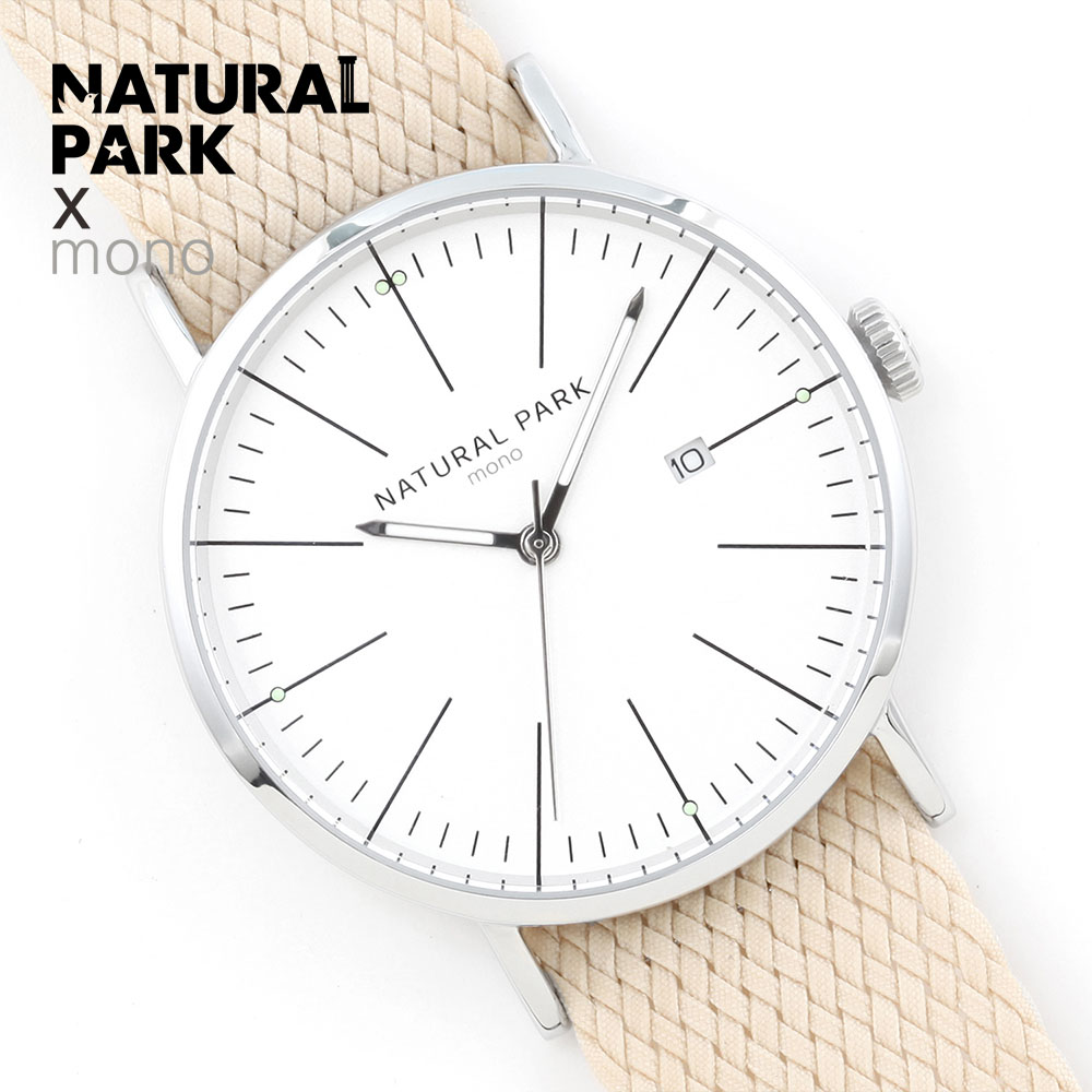 NATURAL PARK Fashion Casual Watches 2018 Watch Men Top Brand Luxury Clock relogio masculino Quartz Wristwatch Beige Nylon Strap