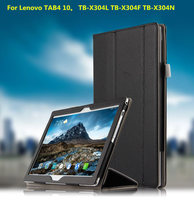 Fashion Genuine Leather Flip Folding Stand Case Book Cover For Lenovo TAB 4 10 TB X304F