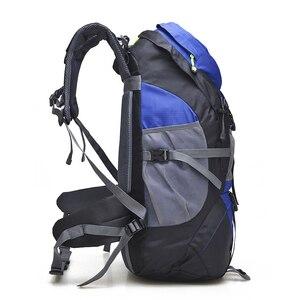 Image 3 - 무료 나이트 50L 야외 하이킹 배낭, 방수 여행 산 배낭, 트레킹 캠핑 등산 가방, 스포츠 하이킹 가방