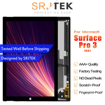 Srjtek Запчасти для microsoft Surface Pro 3 ЖК-дисплей Экран сенсорный дигитайзер Дисплей Pro3 (1631) Панель TOM12H20 V1.1 LTL120QL01 003