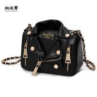 Новые европейские брендовые дизайнерские сумки для цепного привода мотоцикла женская одежда сумка на плечо куртка с заклепкой сумка-мессе...