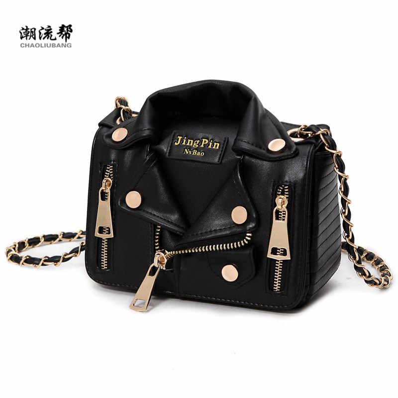 39135672cf62 Новая европейская брендовая дизайнерская цепь мотоциклетная сумка женская  одежда плечо заклепки куртка сумки сумка-мессенджер