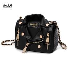 Handbags Clothing Jacket Chain Motorcycle-Bags Rivet Messenger-Bag women Shoulder Brand Designer