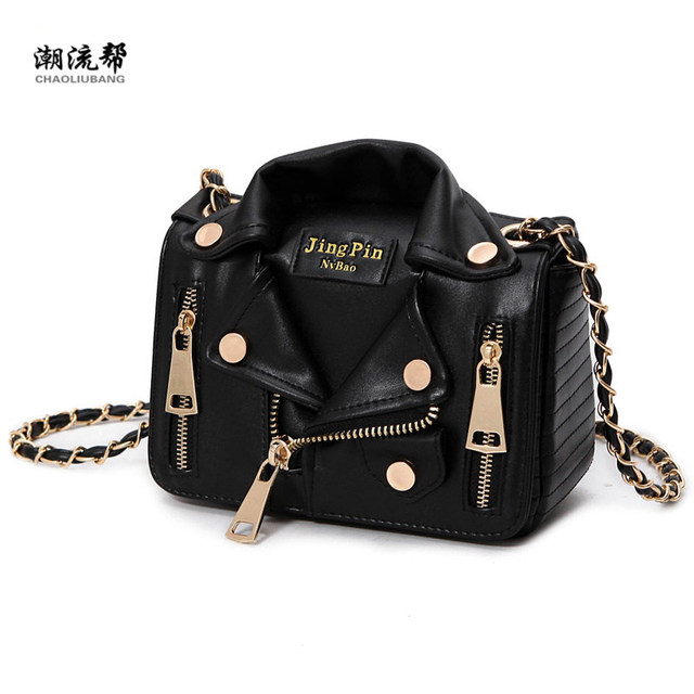 7d25bc23c100 New European Brand Designer Chain Motorcycle Bags Women Clothing Shoulder  Rivet Jacket Bags Messenger Bag Women