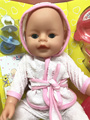 Simulation fashion 35cm Can Blink,Drink,Tears,Pee and speak alive doll model Action Figures bathrobe Reborn Baby Dolls kids toy