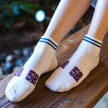 Striped Women Harajuku Pure Cotton Short Socks Tube Thin Section Spring And Summer College Wind Digital Funny Boat Socks Kapron