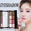 8 Cor Brilho Fosco Sombra paleta Paletas de maquiagem maquiagem Sombra de Olho Cosméticos Com Escova paleta de sombra Beleza