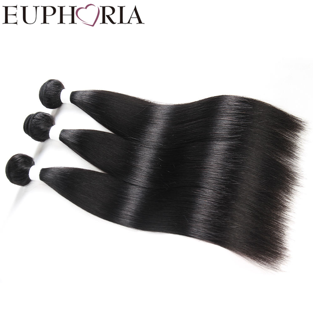 EUPHORIA FASHION Brazilian Straight Hair Weave Bundles Honey Blonde Remy Human Hair Extensions8-26inch Free Shipping Color 1B#