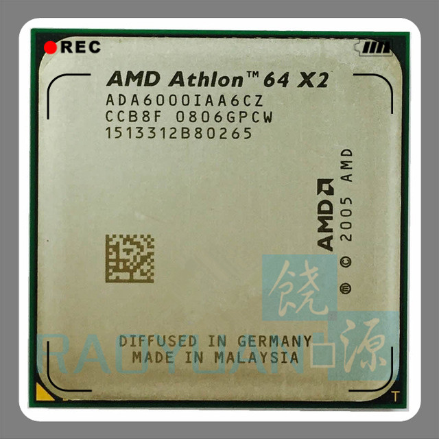 AMD Athlon 64 X2 6000+ 3GHz Dual-Core CPU Processor ADA6000IAA6CZ Socket AM2