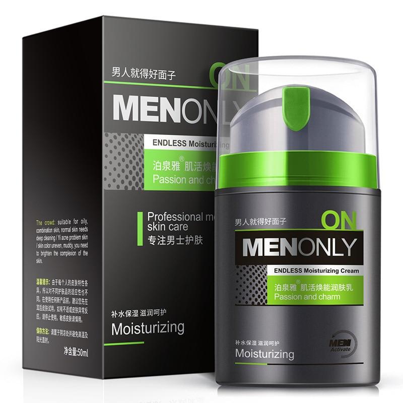все цены на BIOAQUA Men Fashion Moisturizer Facial Cream Hydrating Acne Treatment Oil Control Shrink Pores Remove Blackhead Men Skin Care