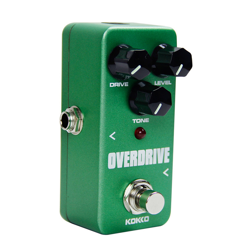 KOKKO FOD3 Mini Overdrive Guitarra Pedal Portable Electric Guitar Effect Pedal For Musical Instrument Ukulele Parts Accessories light weight aroma ach 3 mini chorus electric guitar effect pedal guitar parts and accessories