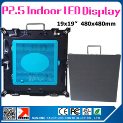 480x480mm P2.5 rental led cabinet high resolution led display wall with LINSN receiving card rainbow cable excellent performance