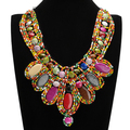 2014  Fancy Beauty Ribbon Wood Rare Bohemia Collar Beads Thead Bib Statement Necklace Special Offer Free Shipping