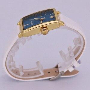 Image 4 - Nieuwe Vrouwen Horloge Japan Quartz Uur Fijne Eenvoudige Top Mode Jurk Lederen Armband Klok Meisje Verjaardagscadeau Julius 941 geen Doos