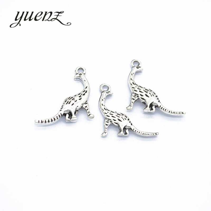 YuenZ  10pcs  2 Color Antique Silver Dinosaur Charms Zinc Alloy Necklace,earring Bracelet Jewelry DIY Handmade 28*19mm D777