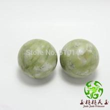 Natural South serpentine jade fitness ball handball natural jade health hand to play the piece