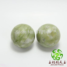 Natural South serpentine jade fitness ball handball natural jade health hand to play the piece