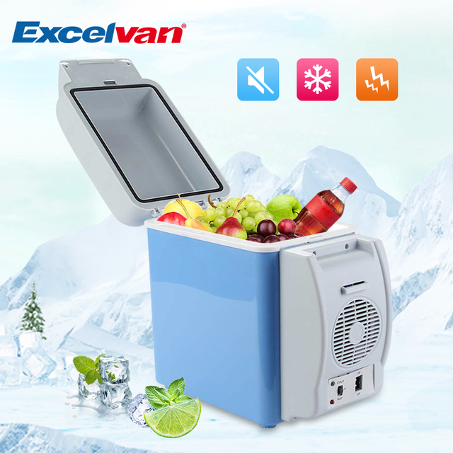 c1231af2cac 12V 7.5L Auto Car Mini Fridge Travel Refrigerator Multi-Function12V  Thermoelectric Car Cooling and Warming Portable Refrigerator