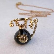 Timlee N167 Free Shipping Vintage Alloy Telephone Pendant Necklaces Sweater Chains Wholesale