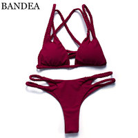 BANDEA 2017 Women Swimwear Brazilian Bikini Set Swimsuit Push Up Swimwear Bikini