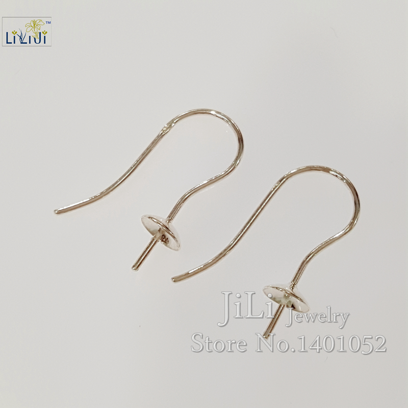 LiiJi Unique 925 Sterling Silver Earring Hook Jewelry Findings Accessories Part Components