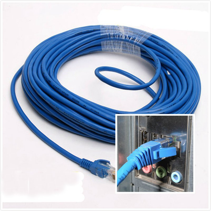 15m network cable 50 feet rj45 cat5 cat5e network ethernet lan network cable for computer us644. Black Bedroom Furniture Sets. Home Design Ideas