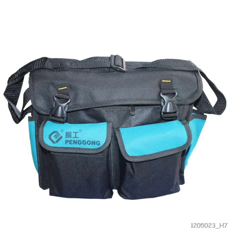 Hardware Toolkit Shoulderbag Waterproof Oxford Cloth Multi Organize Pockets Storage Pouch Portable Electrician Worker Use Tool