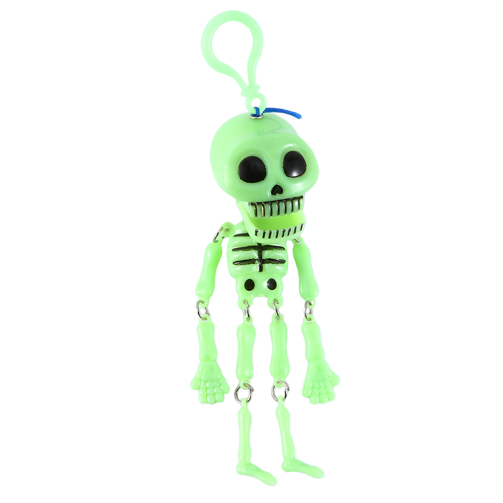 Novelty Glow In The Dark Moving Skeleton Key Chain Halloween Party Decor Carnival Toys Skeleton Glow In The Dark Toys