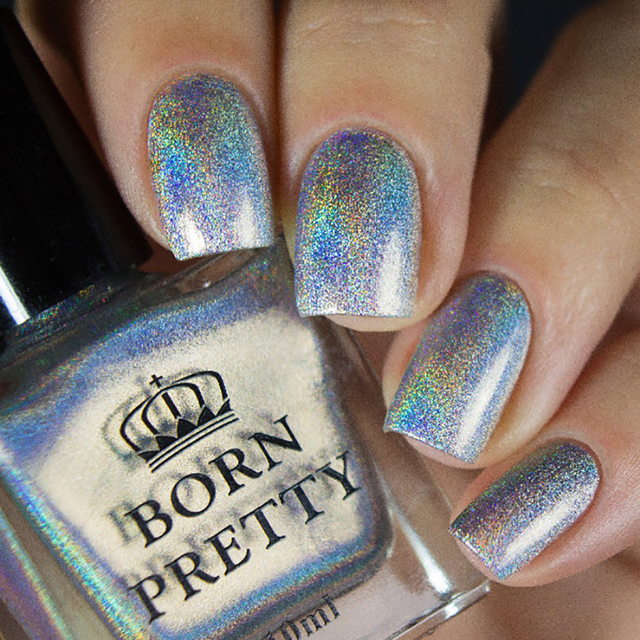 BORN PRETTY High Ingredients Holographic Nail Polish 10ml Holo ...