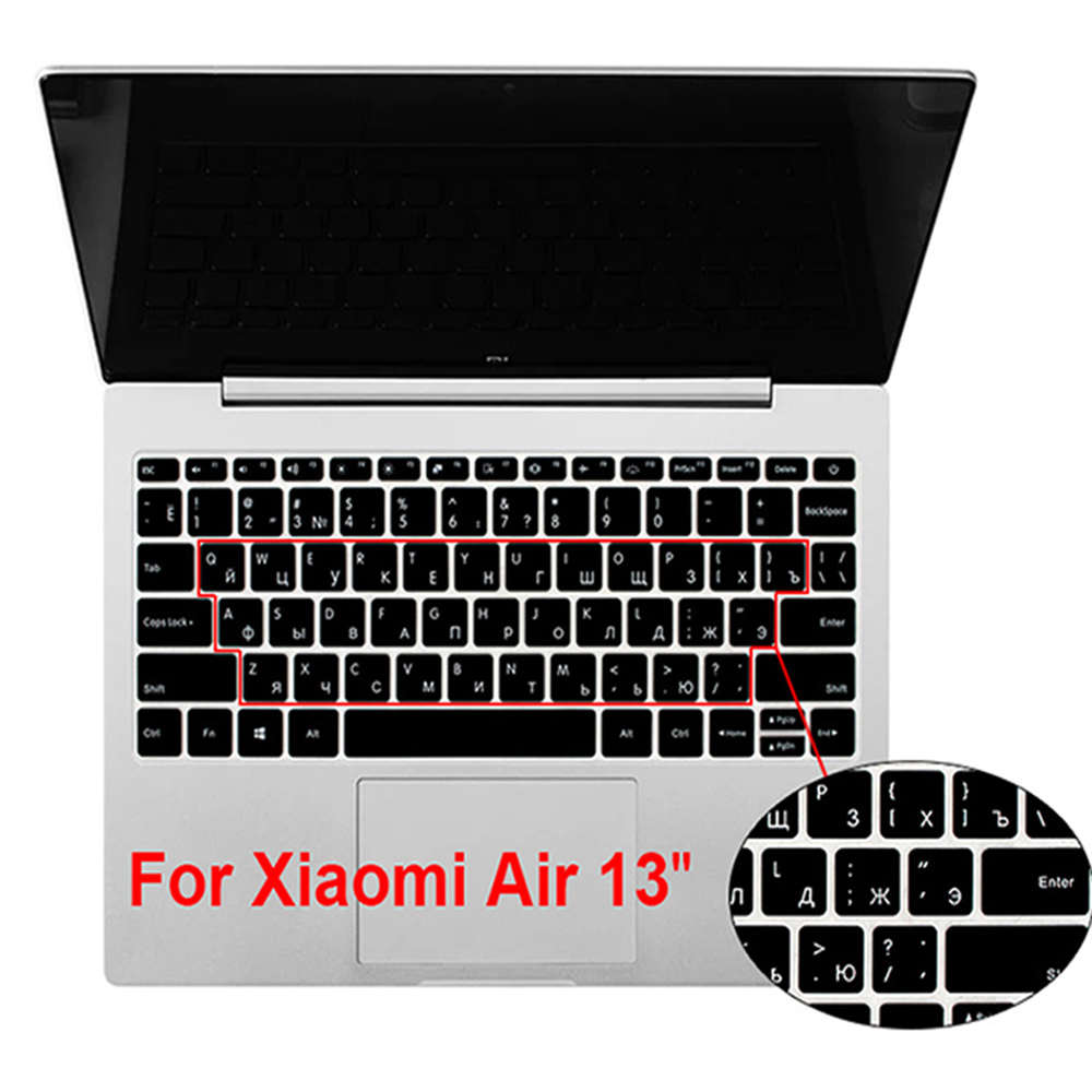 Russian Silicone Keyboard Cover For Xiaomi Mi Air 13.3 Inch Mibook Laptop Notebook Skin Protector Film 13