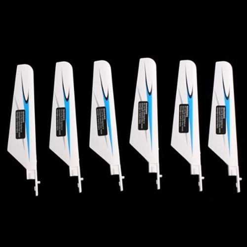 MACH 3 Pair of Main Blade Spare Part for WLTOYS V911 4CH 2.4GHz RC Helicopter White+Blue