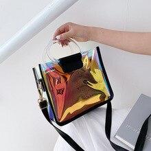 Summer Transparent Jelly Bag Crossbody Tote Bags Women 2019 Quality PVC Luxury Handbags Designer Ladies Laser Clear Shoulder Bag цена