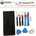 Tela de lcd para huawei p9 100% novos acessórios de alta qualidade substituição display lcd + touch screen para huawei p9 smartphone