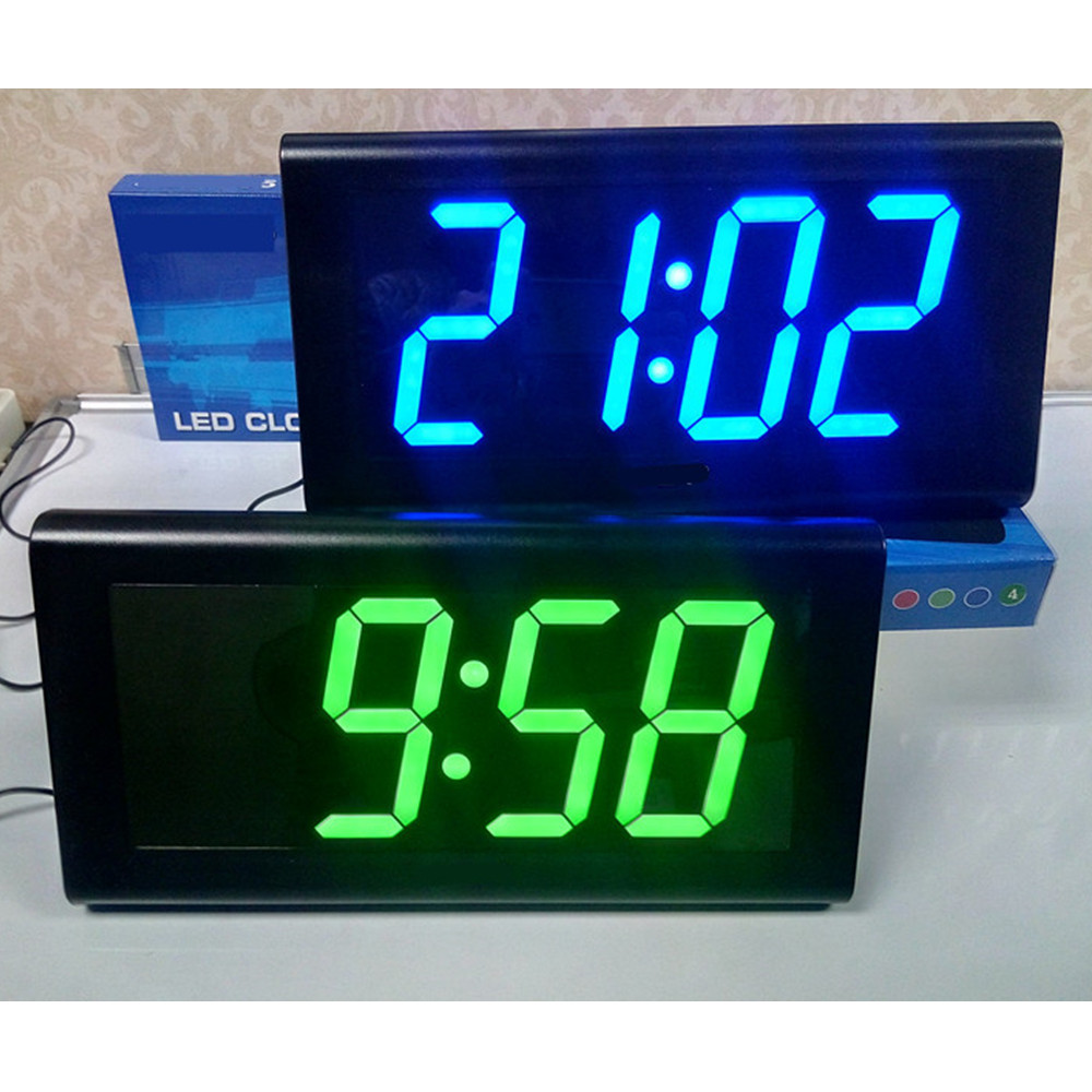 4.0'' Large 3D LED Digital Wall Clock Modern Design Home ...