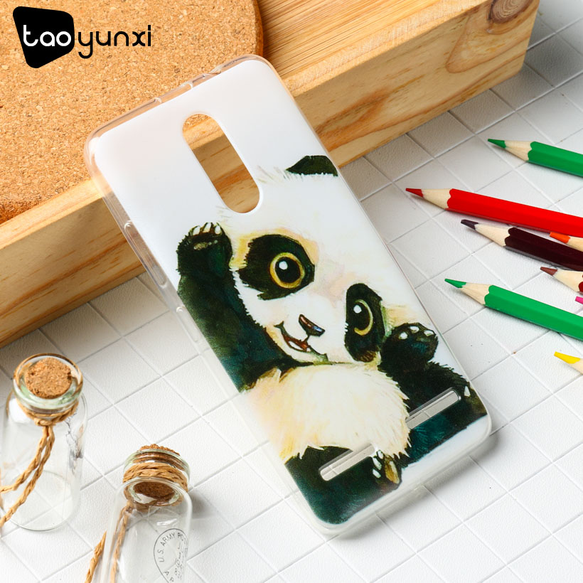 TAOYUNXI Case For Lenovo K6  Cases Silicon Covers Soft TPU K6 Power K33a42 5.0 inch Painted Cute Panda Shield Smartphone Hood