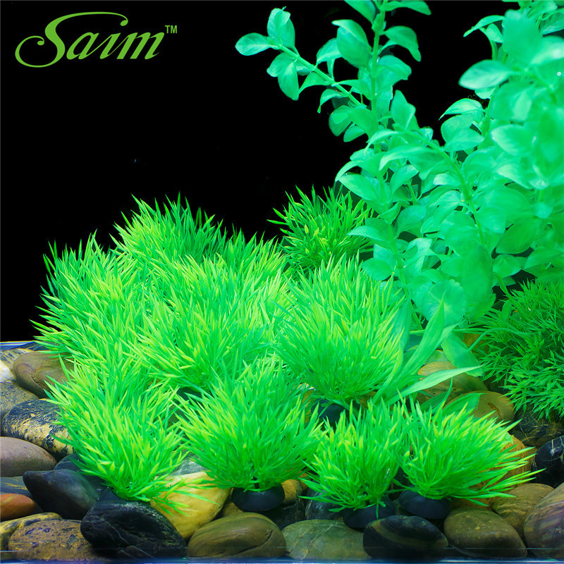 Practical Fish Tank Aquarium Decor Green Artificial Plastic Underwater Grass Plants Aquarium Accessories Decoration For Aquarium Year-End Bargain Sale Pet Products