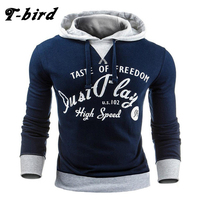 T Bird 2017 Hoodie Men Letter Print Hoodie Men S Sweatshirt Hip Hop Hoodies Pullover Fashion