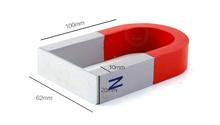Бесплатная доставка 1 шт. U100x62x20mm Alnico Магнит Комплект для Образования Науки Эксперимент Подкова и Мощные Магниты
