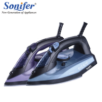 Original 2200W Colorful Portable Electric Steam Iron For Clothes 220V Three Gears Ceramic Soleplate Sonifer