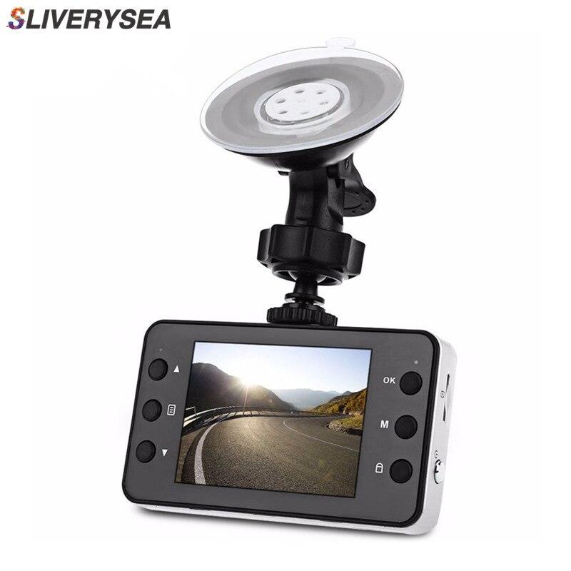 SLIVERYSEA 2,7 pulgadas K6000 coche DVR cámara de vídeo grabador Dash Cam Full HD 720 p Dual LED de visión nocturna de vídeo registrador del coche