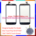 Для Alcatel One Touch POP C9 OT7047 7047 7047D Сенсорный экран Дигитайзер Сенсорная Панель Черный Белый Объектив Код Отслеживания Бесплатно доставка