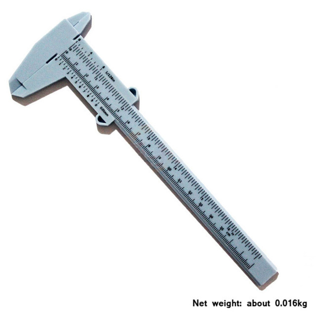 New high quality plastic vernier caliper student Calipers experimental measurement tool specification 0-150mm Measuring Tools