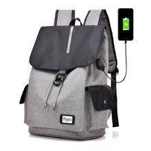 Casual style man student laptop backpack 15 inch USB charging back pack 2019 new arrival High capacity bagpack travel bags(China)