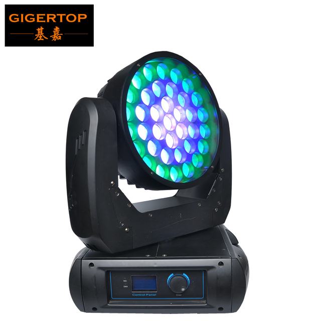 TIPTOP TP-T119 New Arrival 37x12W Led Moving Head Wash Light Zoom 9-50 Degree RGBW Cree Color LED 3 Pin XLR-Connection Sockets